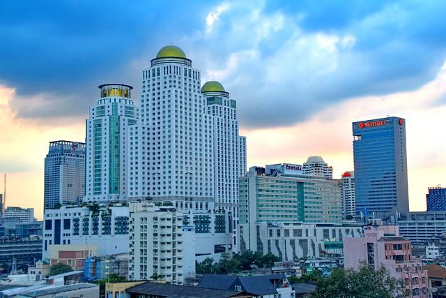 Bangkok's skyline, Thailand.