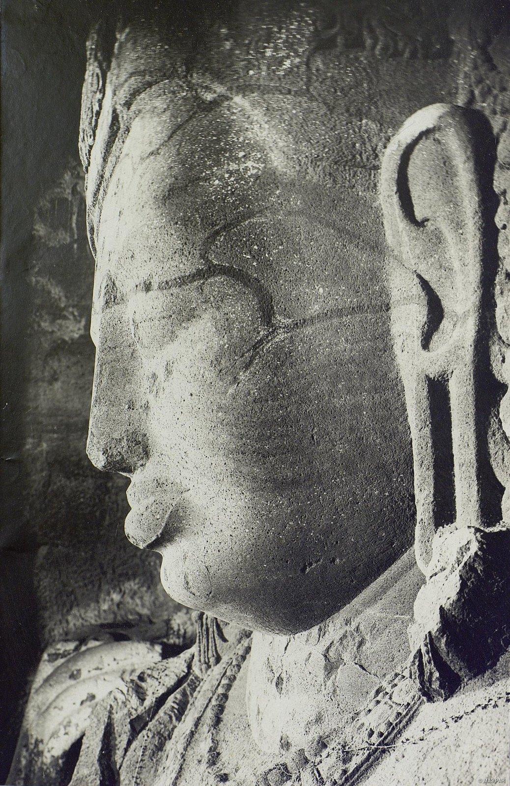 Пещерный храм в Элефанте (деталь скульптурного изображения Тримурти) (5)