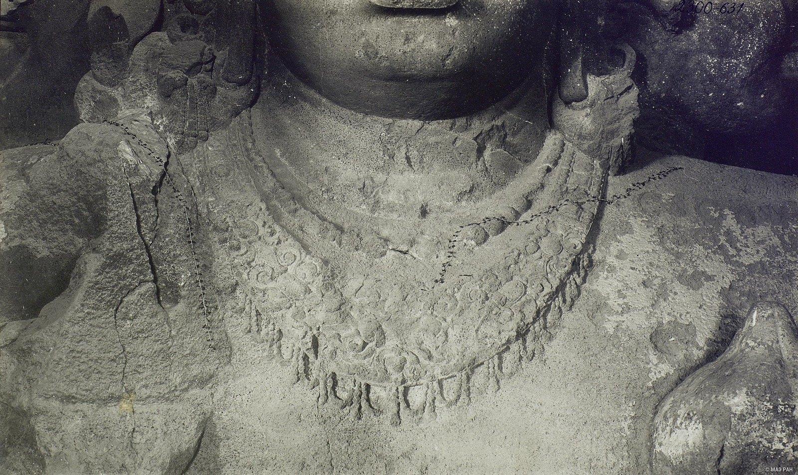 Пещерный храм в Элефанте (деталь скульптурного изображения Тримурти) (3)