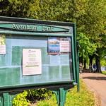 Information board at Avenham Park, Preston