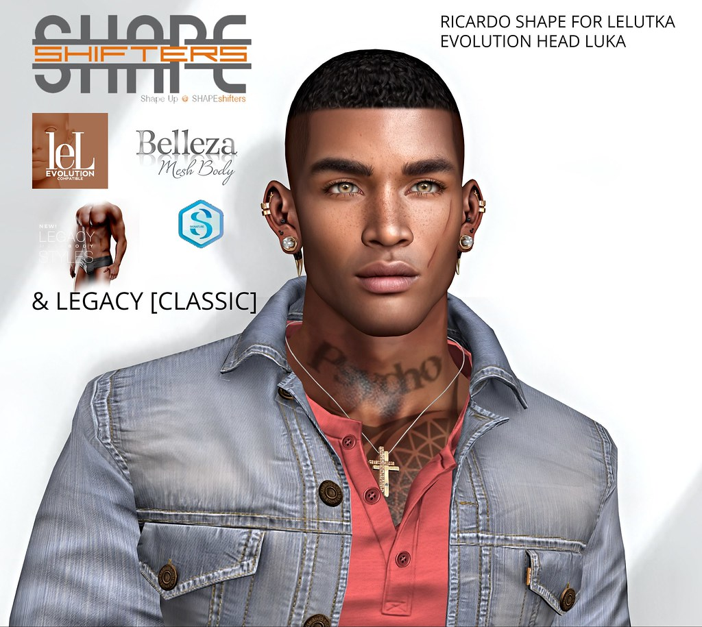 [SHAPEshifters] RICARDO SHAPE FOR LELUTKA EVOLUTION HEAD LUKA