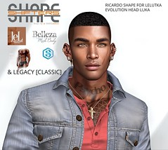 [SHAPEshifters] RICARDO SHAPE FOR LELUTKA EVOLUTION HEAD LUKA