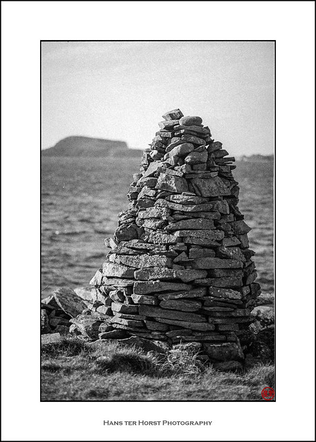 Cairns at the Shetland Islands