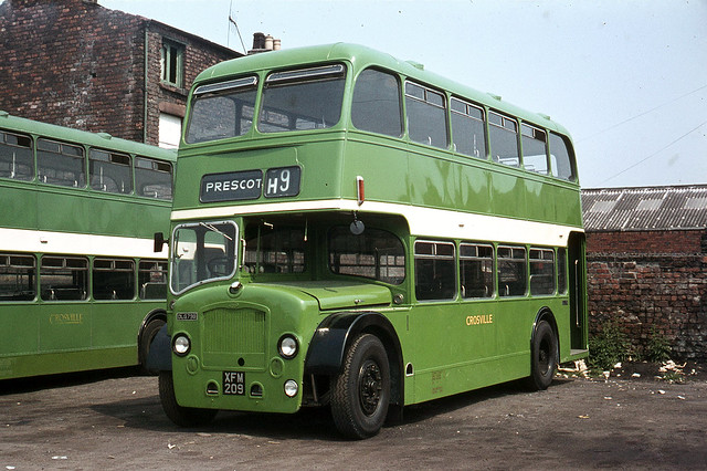 Crosville Motor Services . DLG 798 XFM209 . Edge Lane Garage , Liverpool . Monday afternoon 22nd-June-1970 .