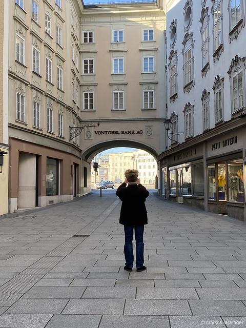 Salzburg Rathausplatz - Corona Lockdown
