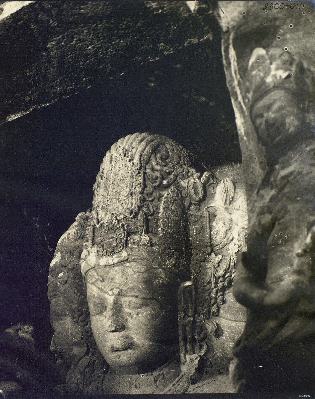 Пещерный храм в Элефанте (скульптурное изображение Тримурти) (7)