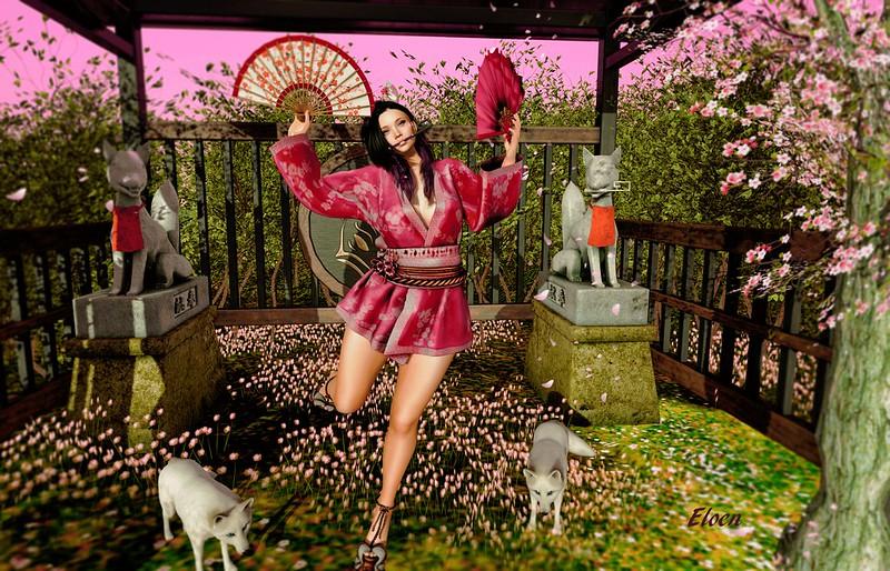 A kitsune Dance