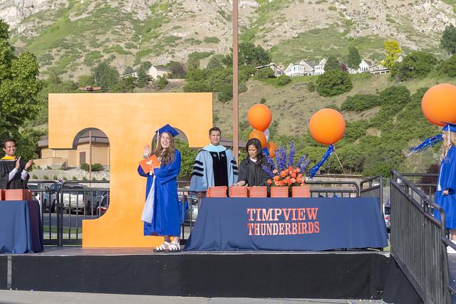 Walking Across the Graduation Stage