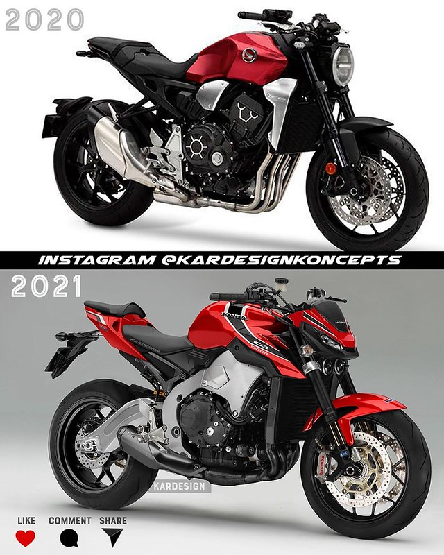 Moto Kandi Design CB1000R 2021 Red