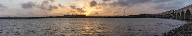 Warleigh Point, Plymouth - Sunset Panorama