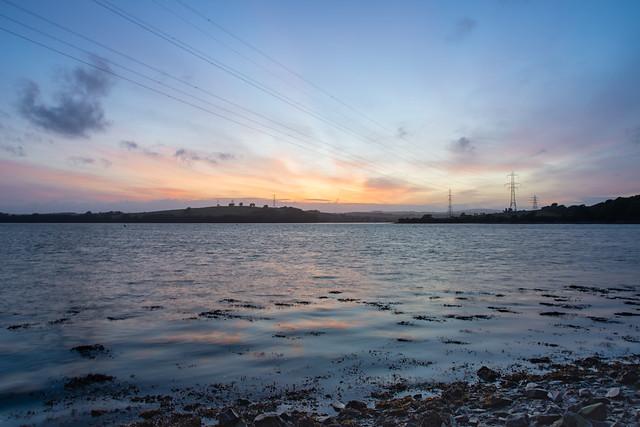 Warleigh Point, Plymouth - the setting sun