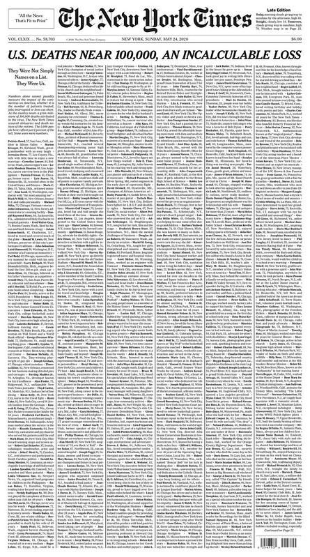Homenajes a las personas muertas por el COVID-19