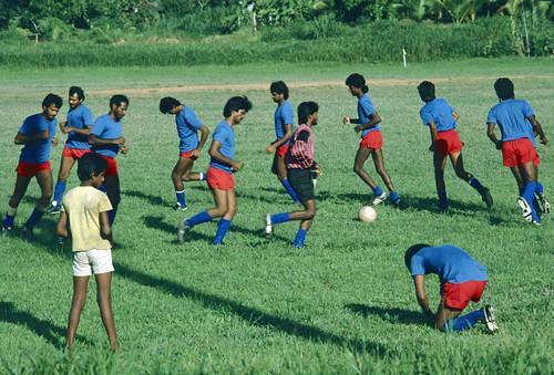 trinidad soccer football team training kodachrome