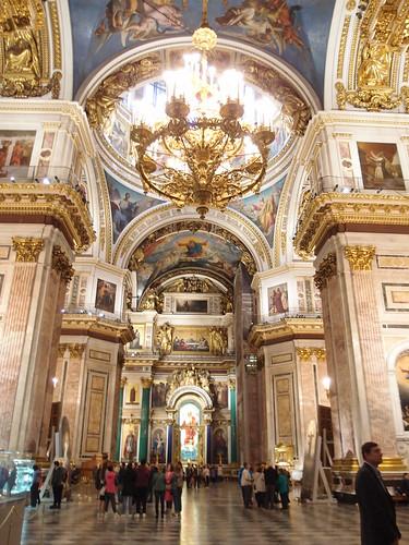 Interior de la Catedral de San Isaac. San Petersburgo