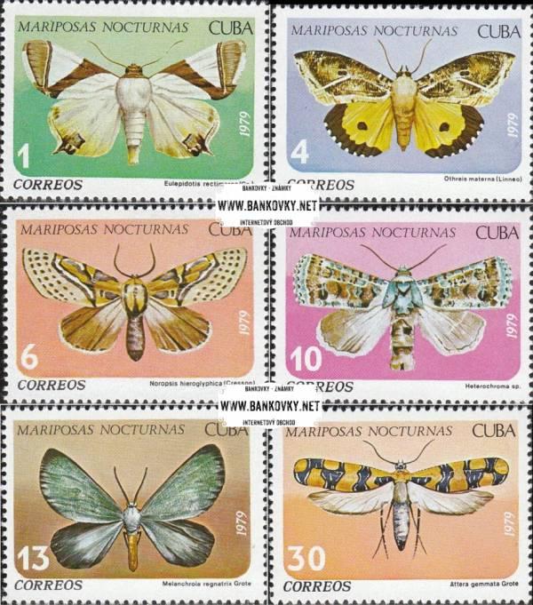 Známky Kuba 1979, nerazítkovaná séria motýle MNH