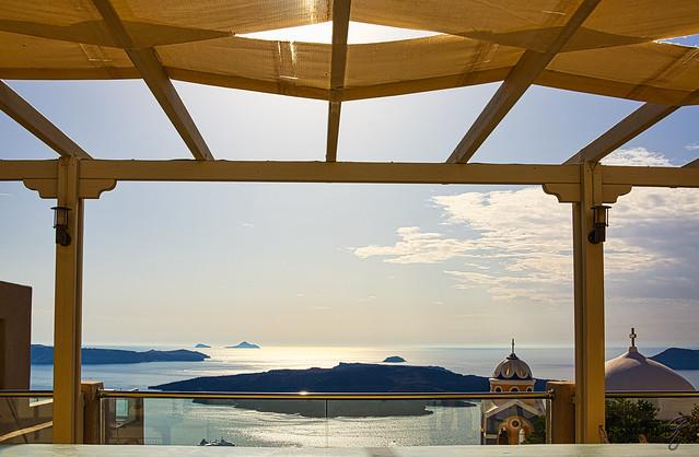 Terrace in Santorini