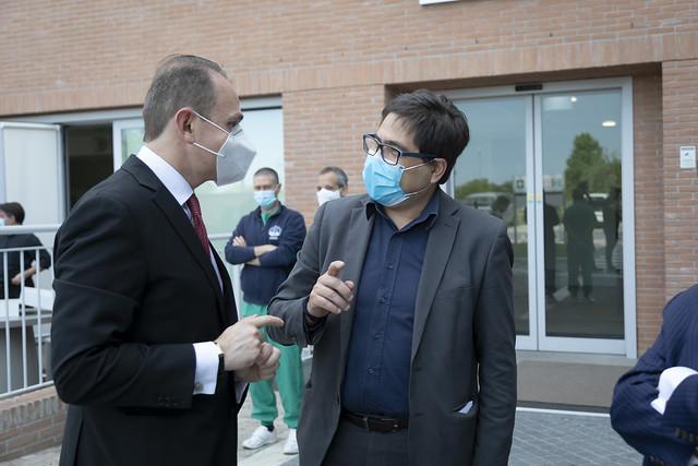 Vincenzo, paziente di Bergamo dimesso dal Covid Center UCBM