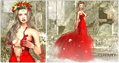 ::TD:: Rina Gown with Appliers ~ Red