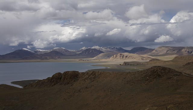 Landscape around lake Namtso, Tibet 2019
