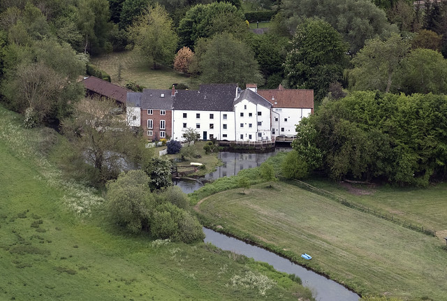 North Elmham Watermill (Grint Mill) - aerial image