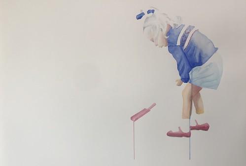 Red Spade - 008 | £62 inc p&p UK | 2020 | 76x56cm | Fabriano Artistico HP Paper
