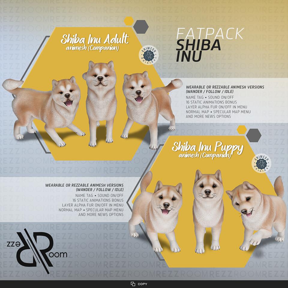 [Rezz Room] Shiba Inu Fatpack Animesh (Companion)