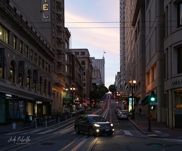 Powell Street, San Francisco at Dusk