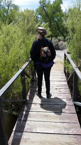 Lisa and Kuma at the Bridge