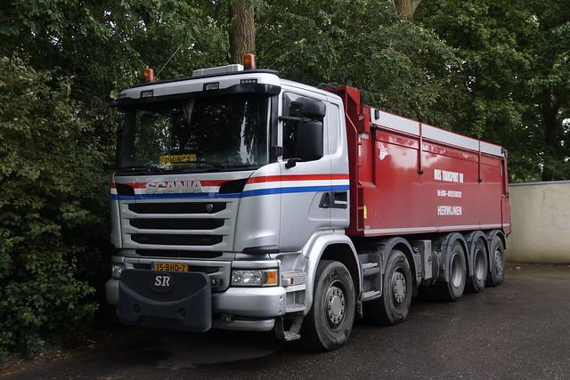 Scania G 450 Mus Transport BV met kenteken 15-BHD-7 in Heukelum 24-05-2020