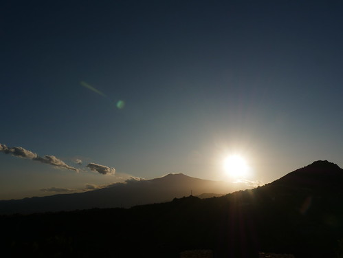 Sunset over Mount Etna