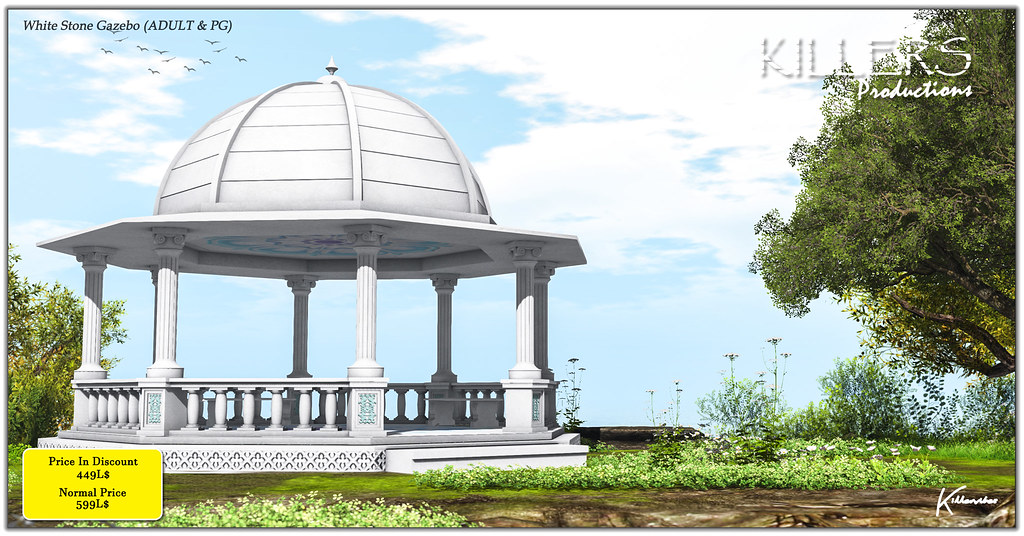 """Killer's"" White Stone Gazebo On Discount @ Cosmo Starts from 18th May"