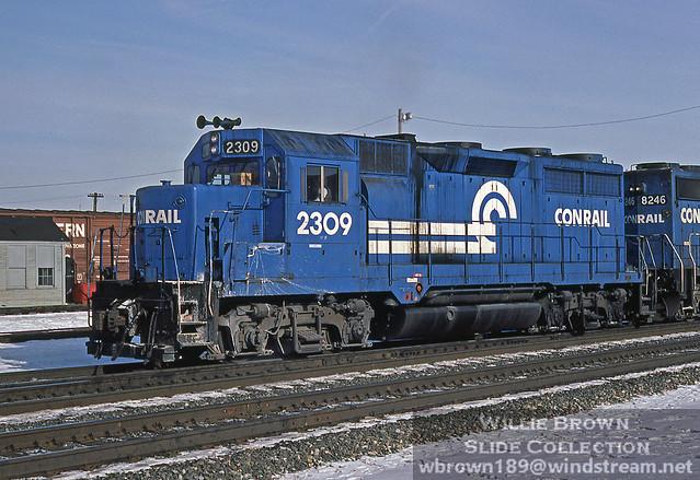 GP35 2309 on 1-22-84 at Alliance, Ohio.