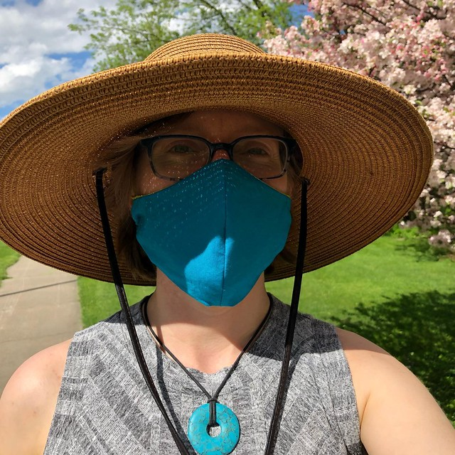 New mask works great!! I took the fleece channel off, and didn't add any other wire channel, but even wire-free, with this shaped mask I had very minimal glasses-fogging. Yay!