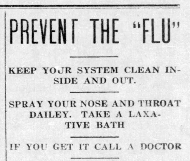 1918-10 - prevent Spanish flu hed- Enquirer - 17 Oct 1918
