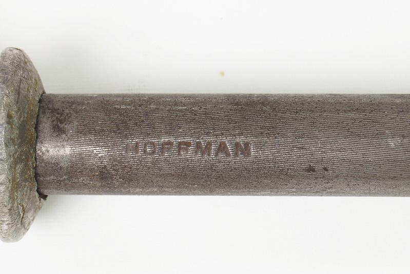 RD24538 Vintage Hoffman Knife Sharpening Steel with Stag Handle DSC05557