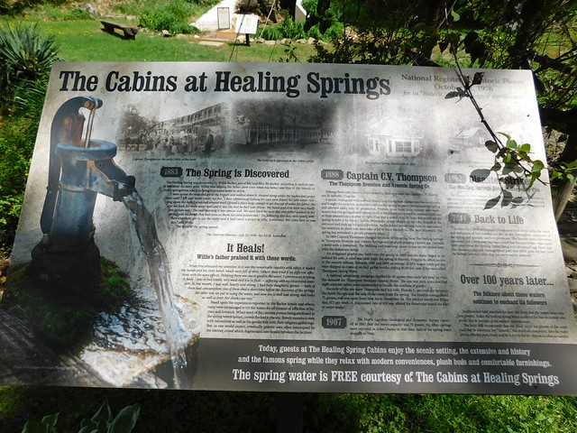 The Cabins @ Healing Springs Sign