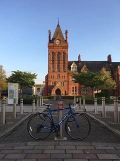 My Road Bike outside Teesside University where I graduated 5 years ago