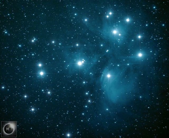 M45 The Pleiades - 2018 & 2019 Data Sets Combined