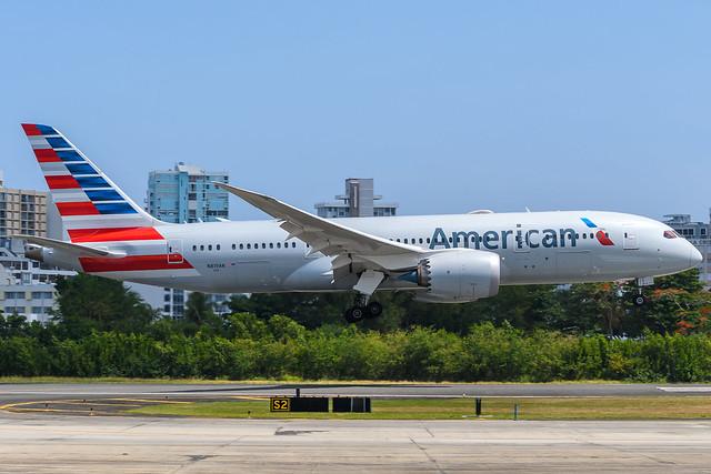 N819AN American Airlines Boeing 787-8 Dreamliner @ SJU