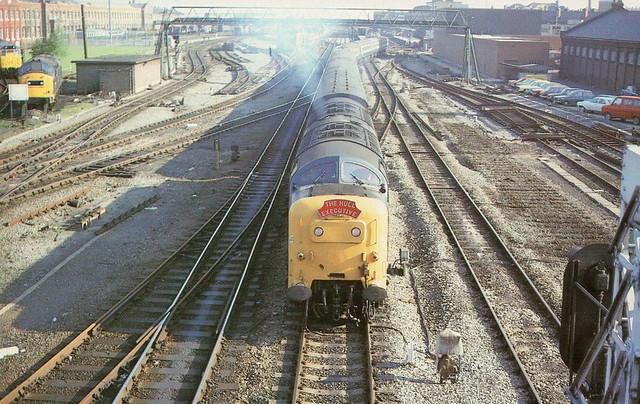 UK - 55011 ''Royal Northumerland Fusiliners'' at Doncaster with the ''Hull Executive''