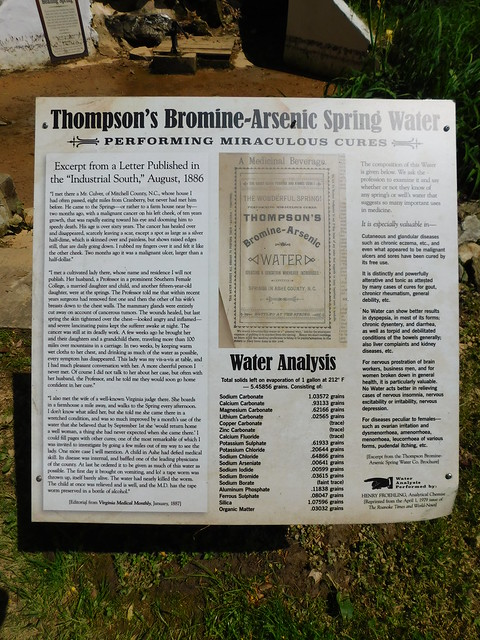 Thompson's Bromine & Arsenic Spring Water Sign