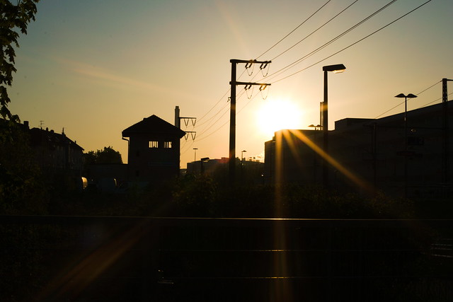 S-Bahn-Halt am Morgen