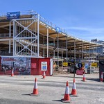 The full frame of the new Student Centre and New Square as part of the UCLan Masterplan