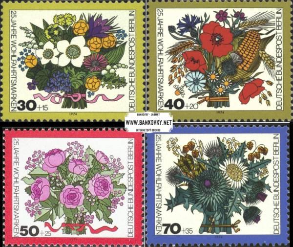 Známky Západný Berlín 1974 Kvety, nerazená MNH séria