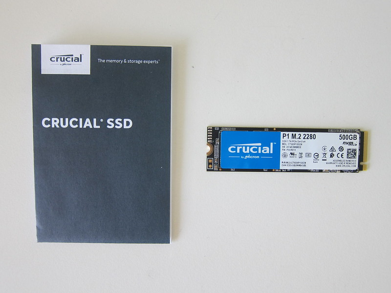 Crucial P1 500GB NVMe M.2 SSD - Box Contents