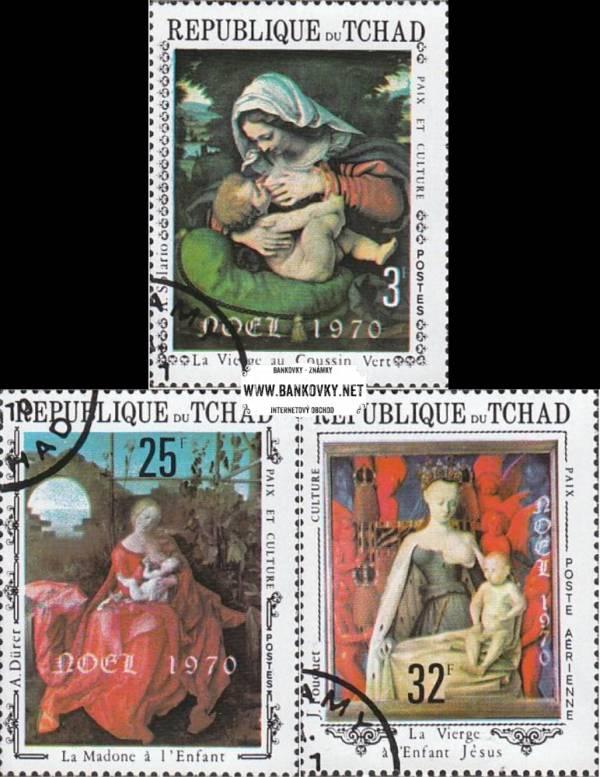 Známky Chad 1970, maľby Vianoce nerazítkovaná séria MNH