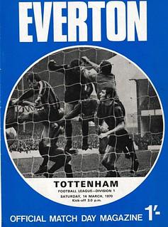 Everton v Tottenham 14/03/1970