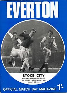 Everton v Stoke City 18/10/1969