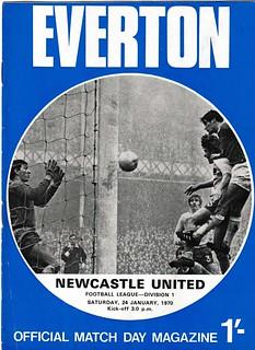 Everton v Newcastle 24/01/1970