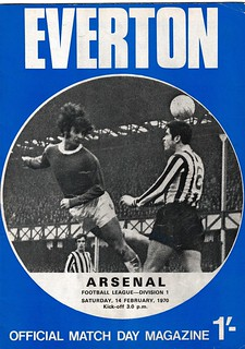 Everton v Arsenal 14/2/1970